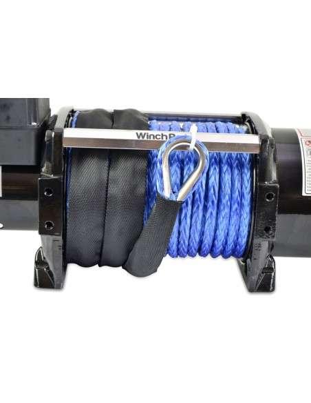 Cabrestante Eléctrico 12V 7700kg/17000lbs, 28m De Cuerda De Dyneema Sintética, 2 Mandos A Distancia Incluidos (1 Inalámbrico, 1 Cable), Para Todo Terreno, 4x4, Grúas