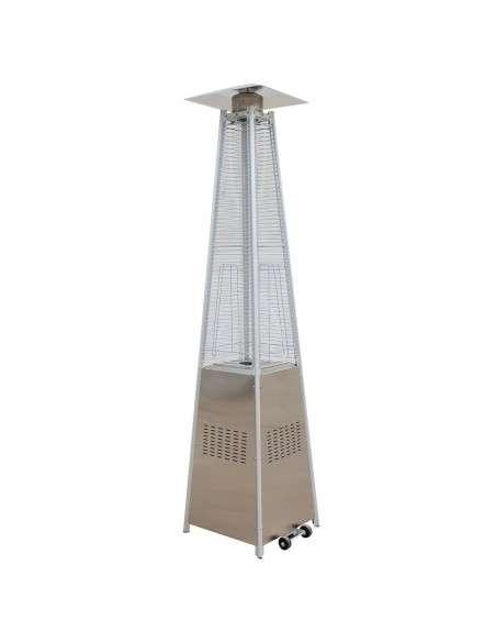 Estufa Gas Exterior para Terrazas con diseño Pirámide de 13kw con Regulador y Manguera