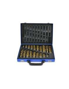 Juego de brocas de HSS Set 170 piezas hasta10 mm en caja metálica