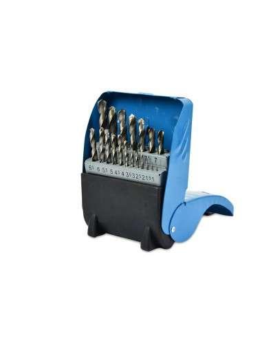 Juego de 19 brocas para Metal HSS-Co hasta 10 mm