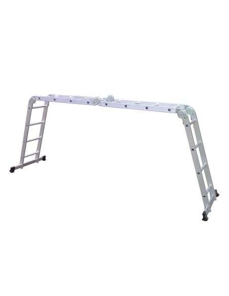Escalera Multifunción de aluminio 5,75M Plegable 6 en 1 Multiuso con Plataforma