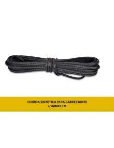 Cuerda Sintetica para Cabrestantes Electricos 5,5mmx15m