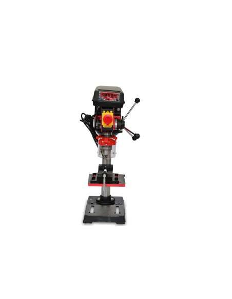 Spark - Taladro De Columna 500W, 220V, 9 Niveles De Velocidad, Altura 610mm, 400-2500 Rpm, Diámetro Máximo De Perforación 16mm
