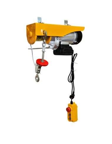 Polipasto Eléctrico 400/800 Kg para Elevacion (Potencia del motor: 1450 W, Max. Altura de elevación: 12 m, Construcción robusta, Diámetro de la cuerda de acero: 6 mm) …