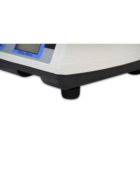 Bascula Comercial 40kg/2g, Plataforma de Acero Inoxidable 33x24cm, Batería Interna Recargable con 40 Horas de Autonomía, Balanza Digital Profesional Para Hostelería, Frutería