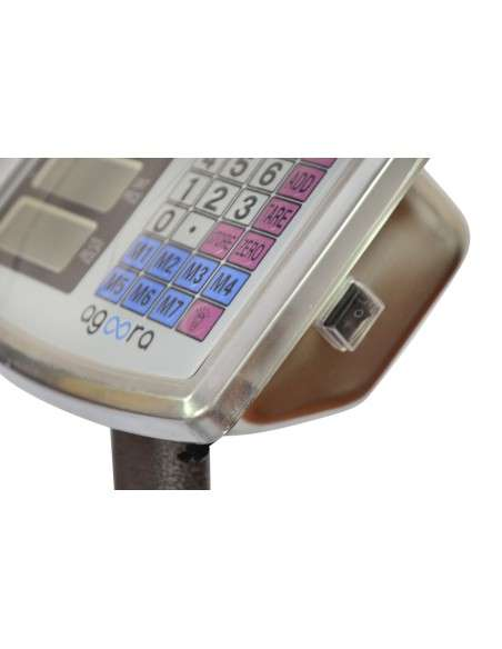 AgoraDirect - Báscula Industrial De Plataforma 300kg/50g, Plegable, Pantalla LCD Digital De Doble Cara, Plataforma De Acero Tratada Térmicamente 40x50cm, Balanza Industrial Para Paquetería