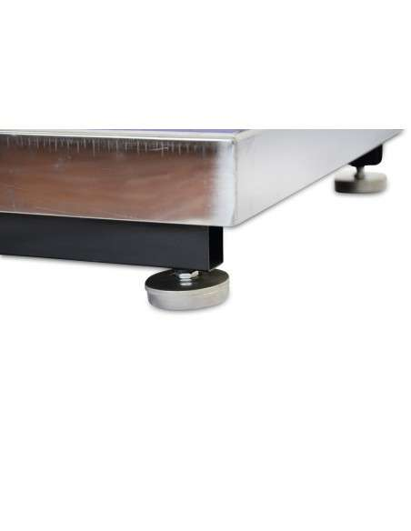 AgoraDirect - Báscula Industrial De Plataforma 300kg/50g, Pantalla LCD Digital, Plataforma De Acero Inoxidable De 50x40cm, Balanza Industrial Para Paquetería