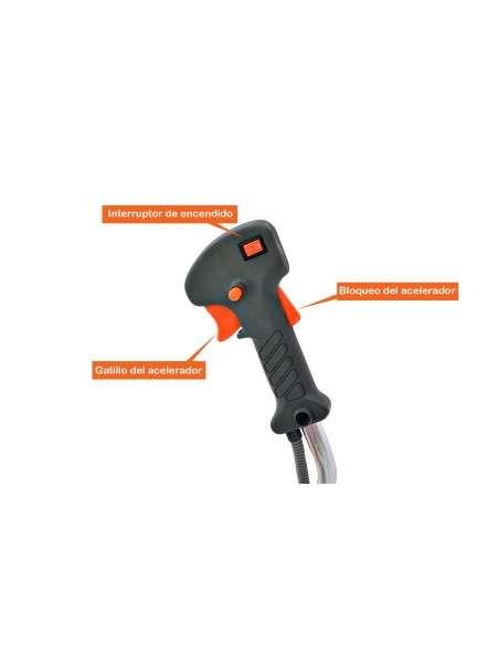 Desbrozadora Gasolina 52cc 7 en 1 con Arnes y Casco de Seguridad, Barra fija con 5 discos y 2 cabezal de hilo