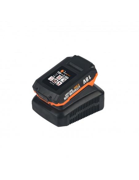 Taladro Percutor a Batería, 44Nm Brushless Taladro Atornillador 18V, 2 Baterías 2.0Ah, 1h Cargador Rápido, 16+2 Ajustes Par