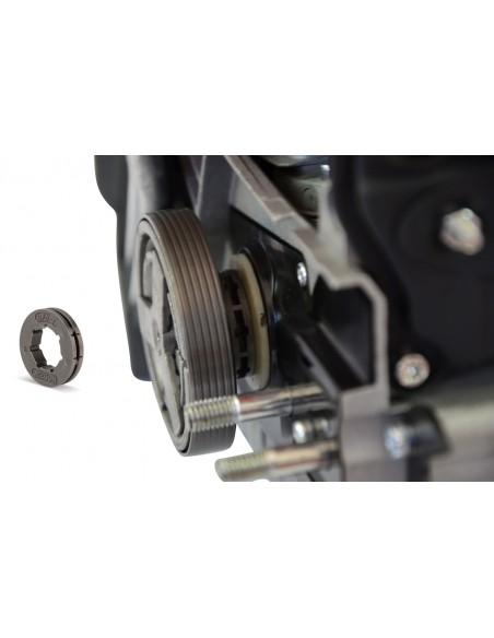 """Spark - Motosierra De Gasolina 58cc, Hoja De 50cm/20"""", 76 Eslabones De Cadena, Arranque Fácil, 2400W 3.2CV De Potencia, Sistema Anti-vibración, 2 Cadenas Y Bolsa De Transporte"""