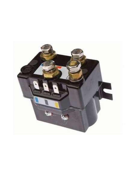Cabrestante Electrico Winche 12v 4500Lbs 2045Kg Cuerda Sintética Mando Inalambrico Placa de Montaje