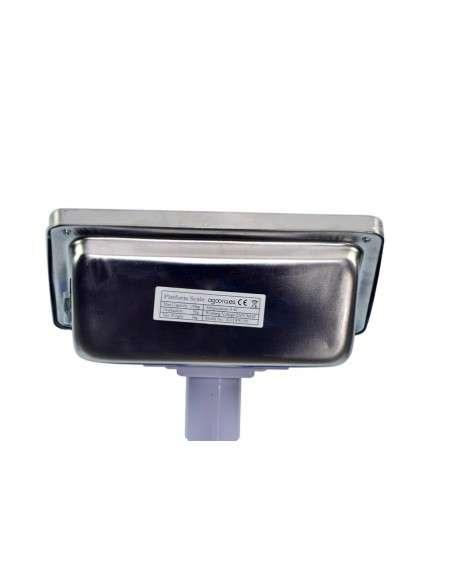 AgoraDirect - Báscula Industrial De Plataforma 150kg/20g, Pantalla LCD Digital, Plataforma De Acero Inoxidable De 50x40cm, Balanza Industrial Para Paquetería