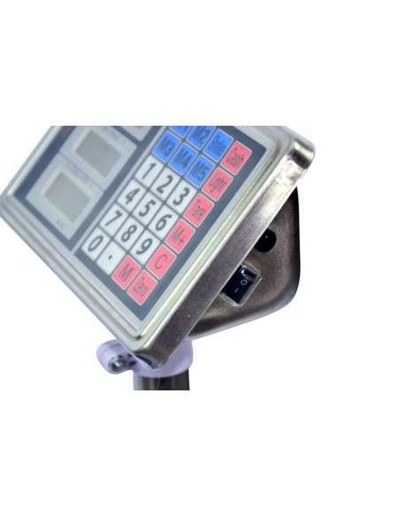 AgoraDirect - Báscula Industrial De Plataforma 150kg/20g, Pantalla LCD Digital, Plataforma De Acero Inoxidable De 40x30cm, Balanza Industrial Para Paquetería