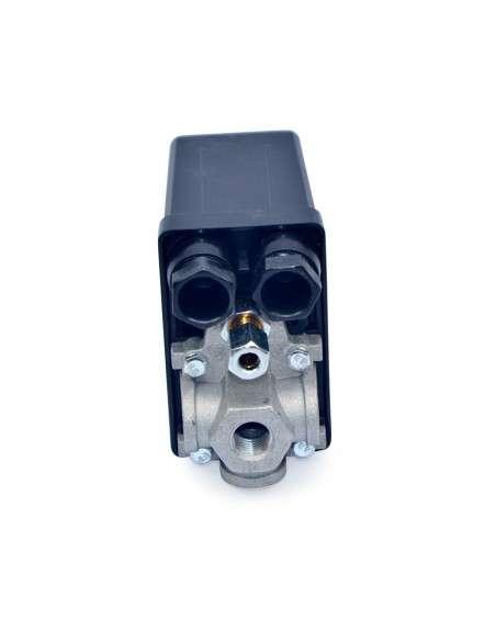 """Grandmaster - Presostato Para Compresores de Aire, Monofásico, 1/4"""" 4 Vías, Regulador de Compresor, Control del Interruptor Compresor"""