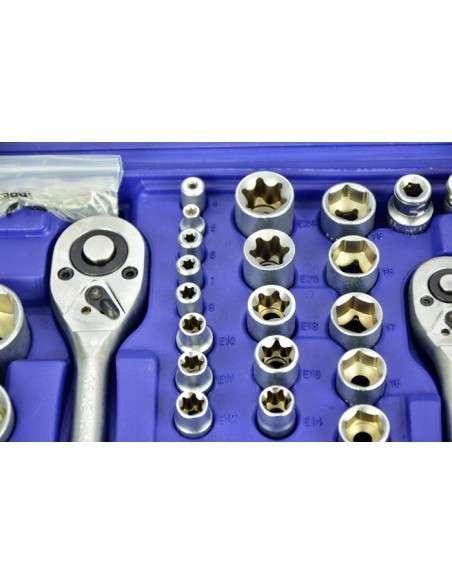 Maletín con llaves de vaso y otras herramientas171 piezas