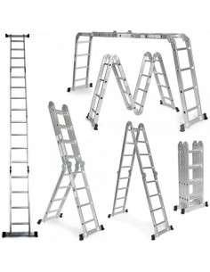 Escalera multifunción 6 en 1 de aluminio 4,75 m