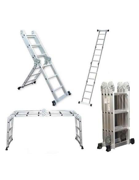 Escalera multifunción 6 en 1 de aluminio 3,70M Plegable